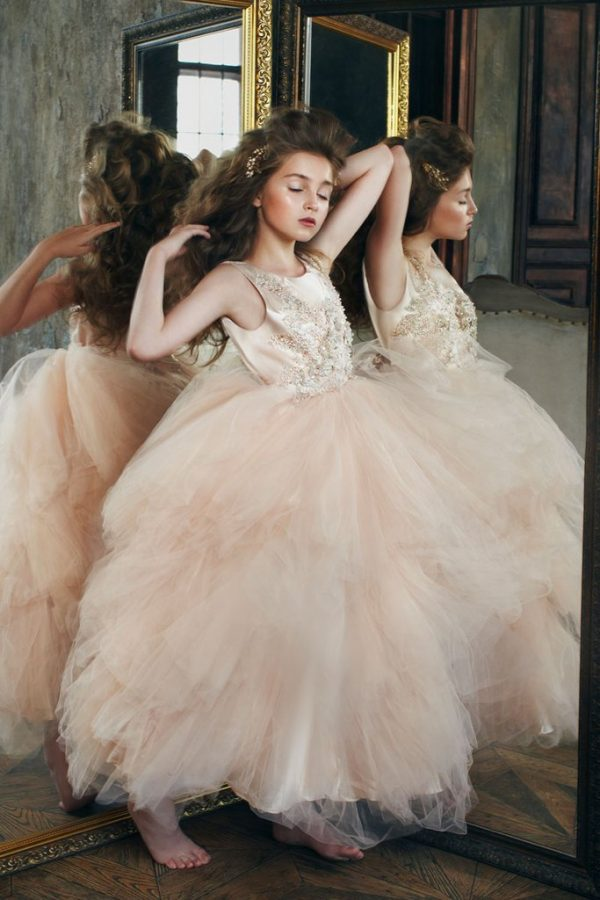 Petite Adele The Lavish Dress Rose Gold Baby S And Kids Boutique