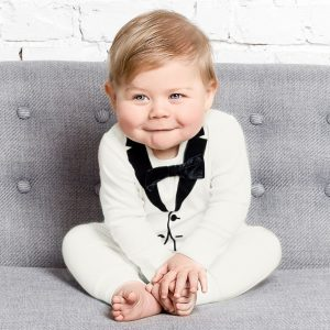 christening romper suit baby boy